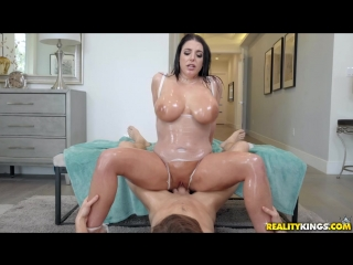 Angela white - slick swimsuit [blowjob, sex, cum shot, anal play, gagging, hair pulling, shaved]