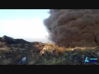 Пожар на свалке в Татарстане
