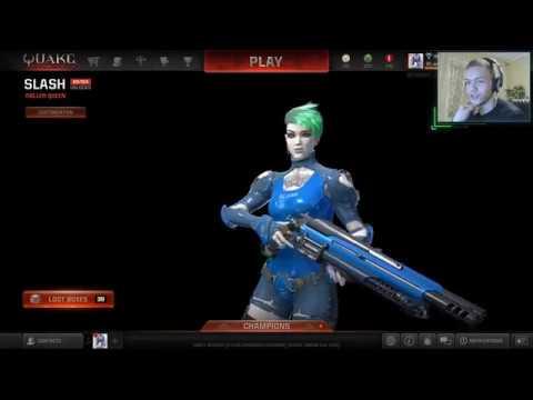 Триксы и распрыжка в Quake Champions от дефрагера w00dy AWOKEN 01