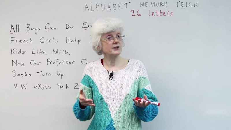 Learn Remember the English ALPHABET A B C D E F