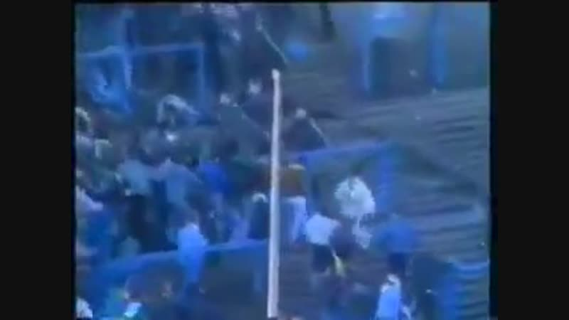 Linfield and Donegal Celtic Fans riot at Windsor park
