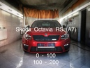Skoda Octavia RS Mk3 (Dynatek st.1) разгон 0-100, 100-200