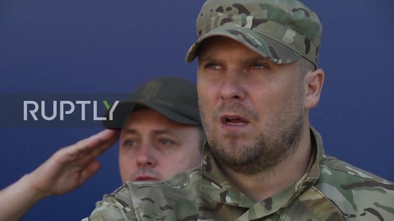 Ukraine Far right Azov Battalion hold parade on 5th anniv of Mariupol 'victory'