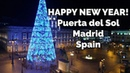 New Year's Eve 2017 from Puerta del Sol Madrid Spain Happy New Year 2018