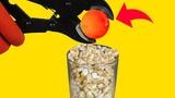 3 EXPERIMENT Glowing 1000 Degree METAL BALL vs Popcorn and Coca Cola Balloons Colors