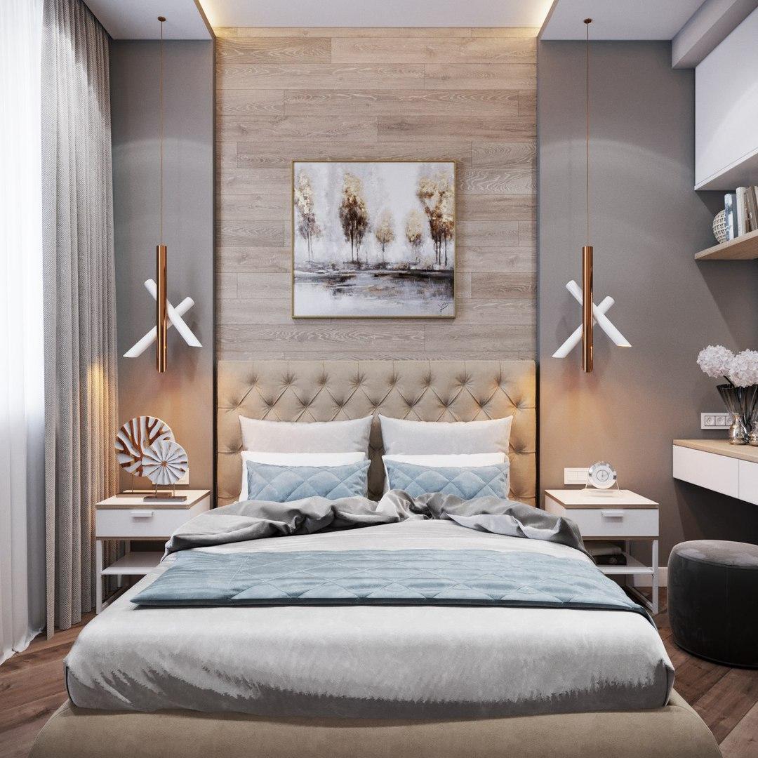 Красивая спальня от студии «А Б»