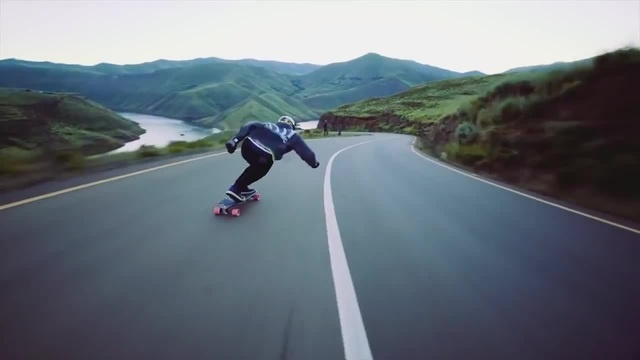 Epic downhill longboarding on higest speed