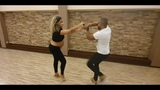 Carlos &amp Fernanda Zouk Demo after class with 38 weeks of pregnancy