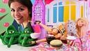 Barbie oyunları Yatağında yemek yersen ne olur