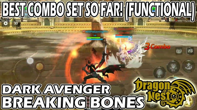 DARK AVENGER BEST COMBO SO FAR DRAGON NEST M