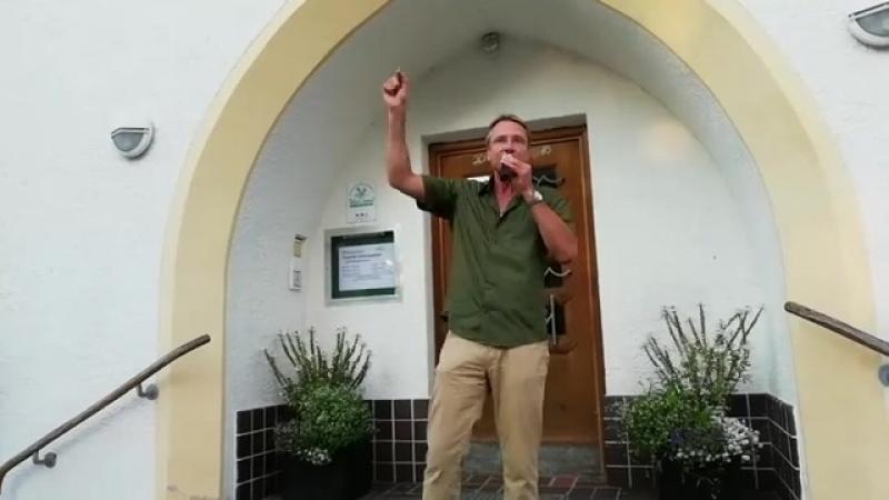 Live von der Protestdemo in Lenggries - Michael Stürzenberger
