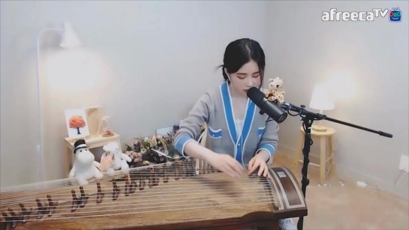 Красивое музыкальное исполнение на корейском традиционном инструменте Каягым (Feat. Токкэби)
