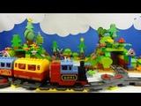 Строим из Lego Duplo, Build and Play toys Lego, Лего Дупло - railway tunnel #2(железная дорога)