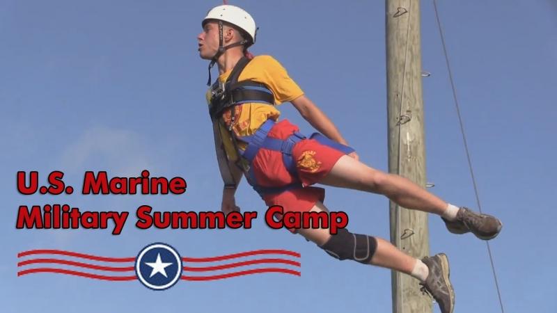 School boys at Marine Military Summer Camp, Texas. Летний лагерь для школьников от 11 до 18 лет на базе Морской пехоты США.