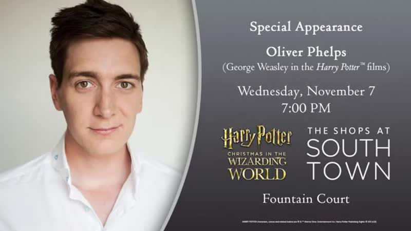 Oliver Phelps attending Christmas at The Wizarding World in Utah this week