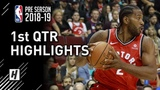 Toronto Raptors vs Utah Jazz - 1st Qtr Highlights October 2, 2018 2018 NBA Preseason
