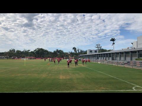 Primeiro treino do Flamengo no ano de 2019! Jogadores estão no campo!