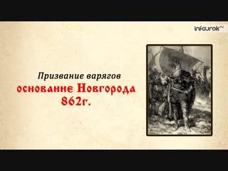 История 6 класс - Всемирная история  Становление Древнерусского государства в IX-X веках