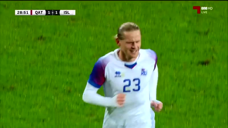 Исландия - Катар / гол Скуласон