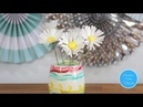 How to make a wafer paper daisy