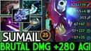 SumaiL [Slark] Brutal Damage 280 Agi Insane Attack Speed 7.20 Dota 2