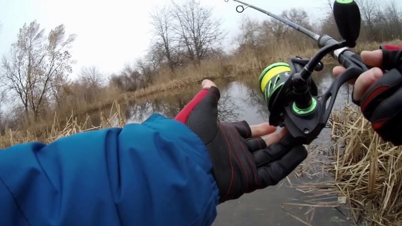 Зимний спиннинг на микро речке. Катушка - Piscifun Viper 2