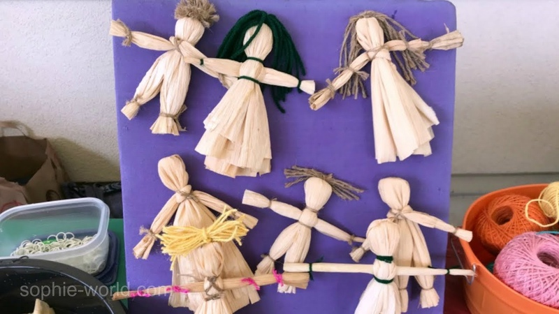 How to Make Corn Husk Dolls Sophie's World
