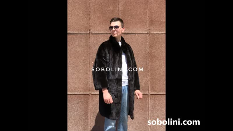 Cool mink coat for men!Indposhiv,worldwide shipping, quality assurance,only auction fur!