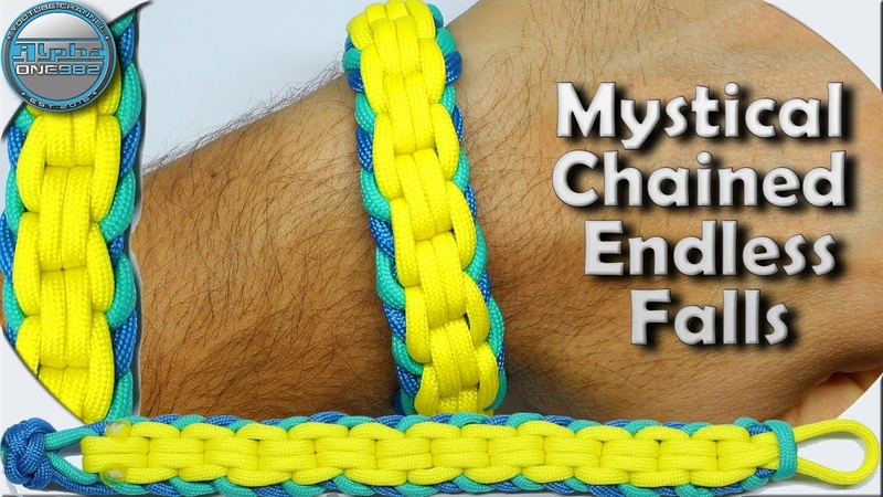 World of Paracord How to Make a Paracord Bracelet Mystical Chained Endless Falls Simple Fast Easy