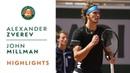Alexander Zverev vs John Millman Round 1 Highlights Roland Garros 2019