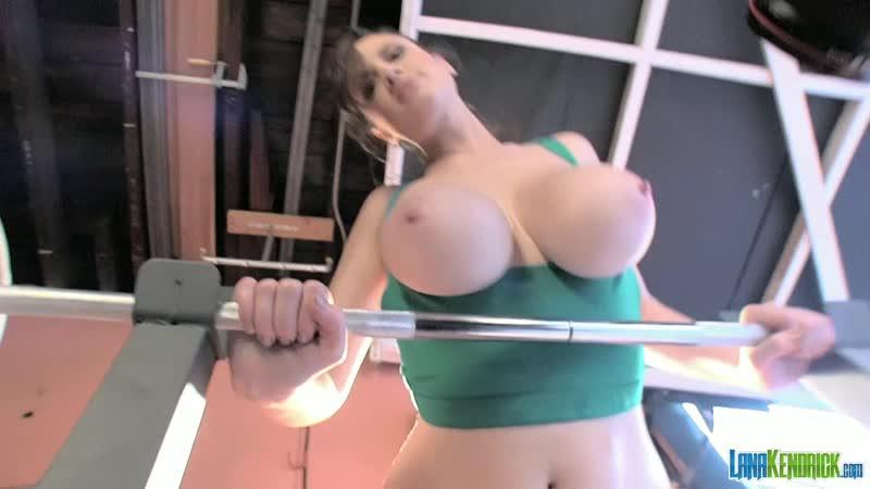 Lana Kendrick workout hottie 2 ( erotic, эротика, fetish, фетиш, big boobs, score, model )
