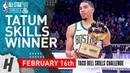 Jayson Tatum Wins 2019 NBA All-Star Skills Challenge - February 16, 2019 | Full Highlights