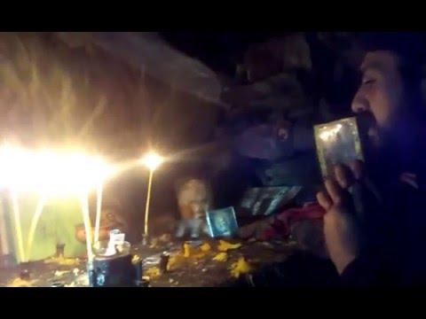 Йеродякон Нектарий в пещерата на св.Йоан Рилски Чудотворец