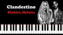 Shakira Maluma Clandestino Piano Tutorial Cover