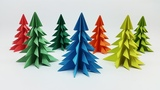 3D Paper Christmas Tree Making Tutorial - How to make Xmas Tree - DIY Christmas Crafts