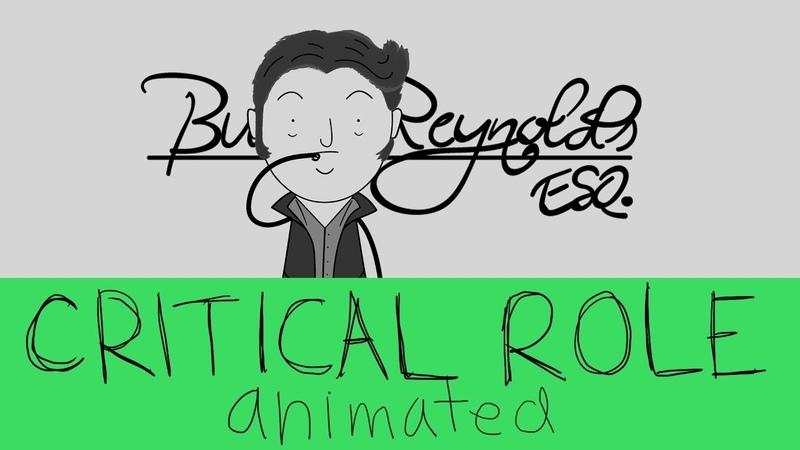 Critical Role Animated Burt Reynolds