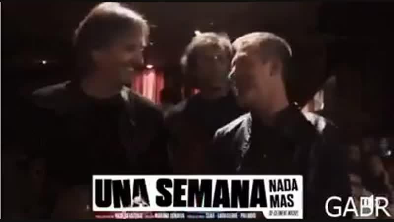 Gustavo Bermudez y Adrian Suar en el teatro 2019 años