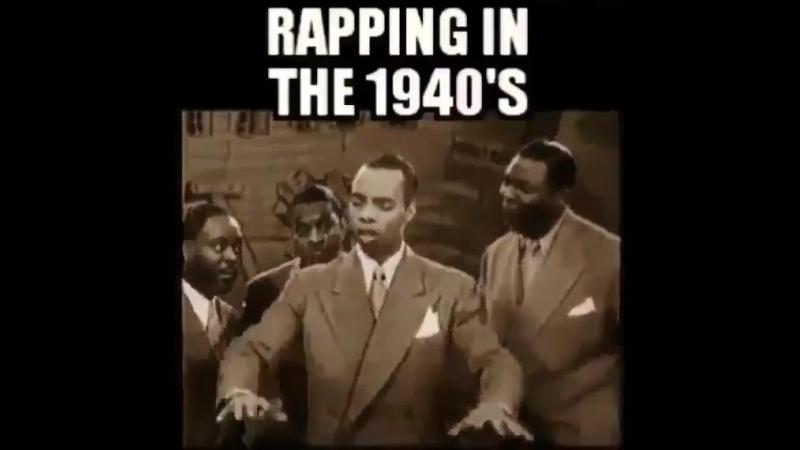 1940 ые черный парень читает рэп за 40 лет до его рождения на радио