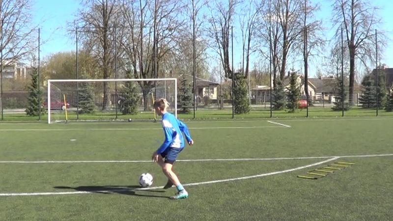 Individual football training • Coordination, Agility, Speed, Balance, Midfielder drills (HD)