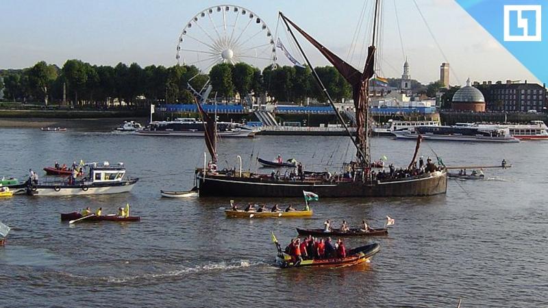Большой парад кораблей на Темзе