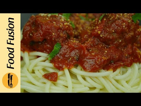 Spaghetti and Meatballs Recipe by Food Fusion