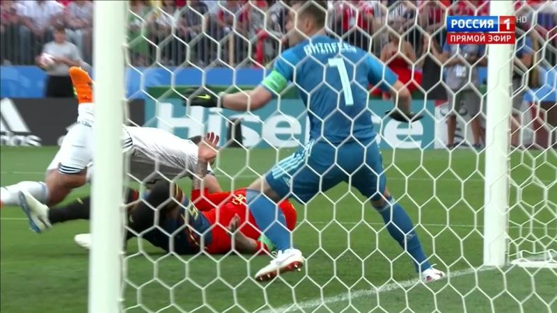 Гол Игнашевича в свои ворота Россия-Испания 1/8 финала