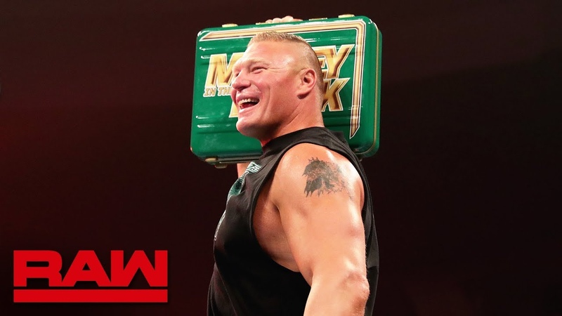 The «Kingslayer»: Brock Lesnar celebrates his Money in the Bank contract win: Raw, May 20, 2019