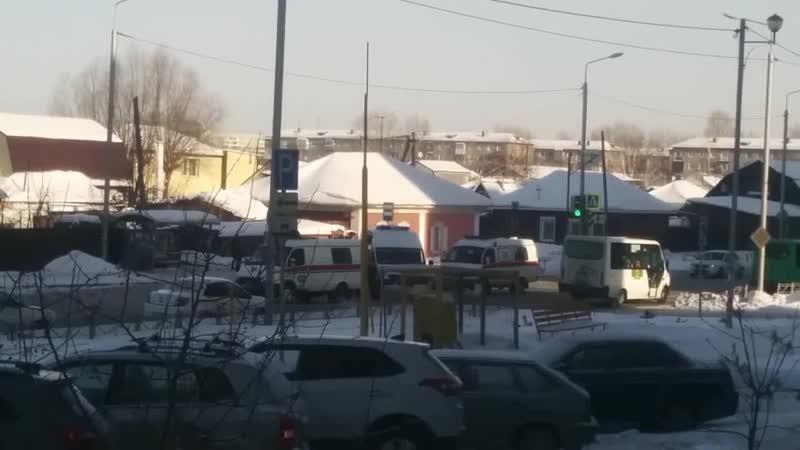 Авария со скорой помощью на ул. 24-я Северная (13.02.2019)