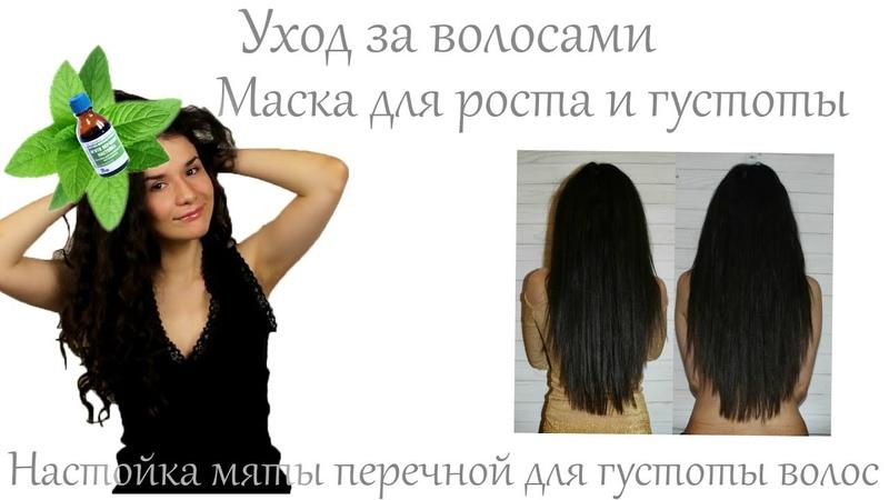 Уход за волосами Маска для роста и густоты волос Настойка мяты перечной для густоты волос