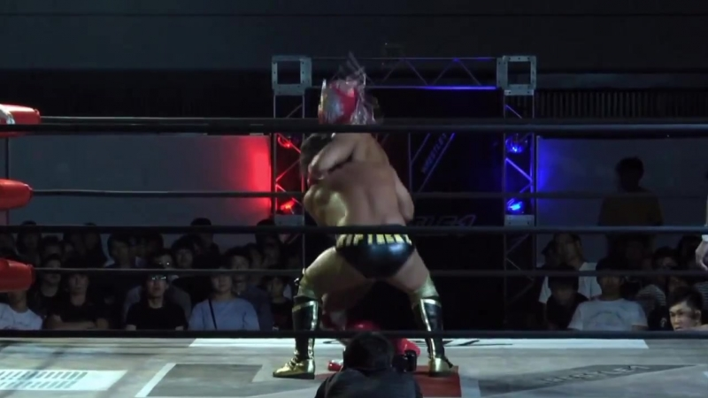 Jun Tonsho, Pegaso Illuminar vs. Kaz Hayashi, Naomichi Marufuji (WRESTLE-1 - Pro-Wrestling Love 2018 in Osaka)
