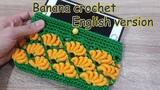 Banana crochet phone case English version