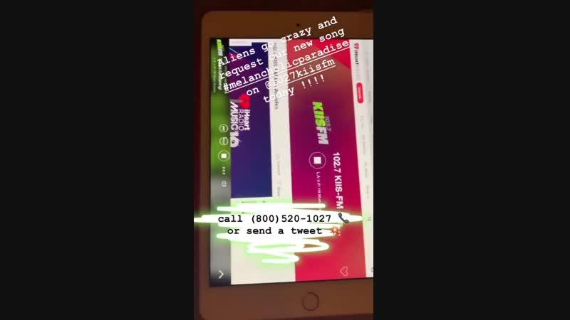Bill Kaulitz Tokio Hotel Instagram Stories 01 02 2019 Наша песня в эфире 102 7 Kiis FM