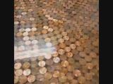 Стол со столешницей из монет - vk.com/tricks_lf
