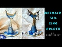Mermaid Tail Cute Ring Holder / Cold porcelain/Airdry clay Mermaid tail/ Everyday Jewelry Holder